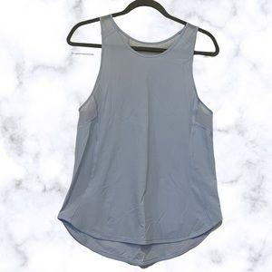Lululemon 6 sculpt ll tank light blue sleeveless active top mesh running stretch